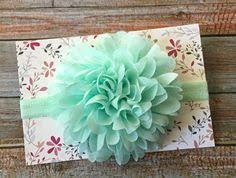 mint green headband headband easter headband aqua green headband aqua green baby