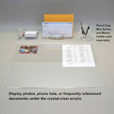Desk Mat Clear by Acrylic Desk Pad Ultimate Office