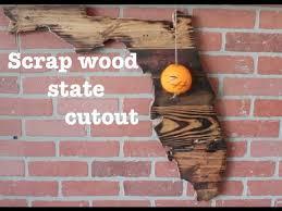 florida wood wooden state cutout florida diy