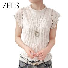 white lace blouses black white lace blouse sleeve stand collar