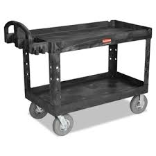 rubbermaid service cart with cabinet commercial heavy duty utility cart 750 lb cap 2 shelves 25 1 4 x