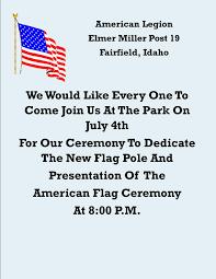Us Flag Pole Flag Pole Dedication And American Flag Presentation Ceremony
