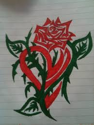 manly rose and heart tattoos google search tattuato