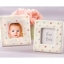 photo frame party favors polka dot photo frame baby shower favors paperstyle