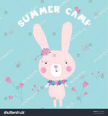 cute bunny illustration vector print stock vector 651784960