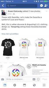 kã chenlen design company selling swastika apparel as progressive symbol of peace