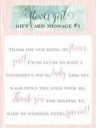wedding gift card message flower girl gift card message idea 6 thank you for being such