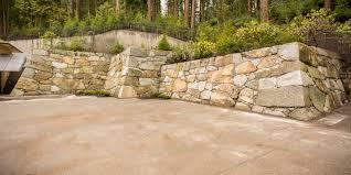 Garden Rock Wall by Zagunis Castle Wall Portland Japanese Garden