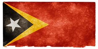 Flag Black Red Yellow Timor Leste Grunge Flag