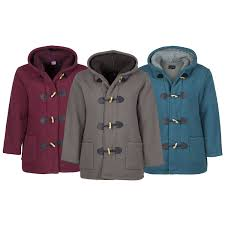 finesse la s duffle coat womens duffle coat winter sherpa fleece