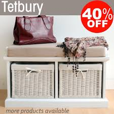 Small Storage Bench With Baskets Bench Hall Shoe Bench Tetbury Hallway Bench Storage Baskets