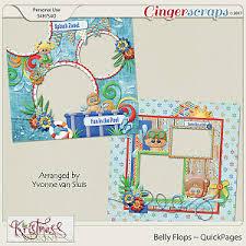 gingerscraps word art belly flops wordart clusters