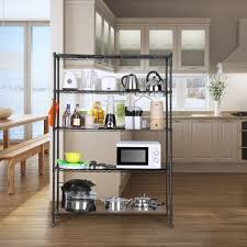 tier metal shelving shelf rack garage office kitchen storage unit wire