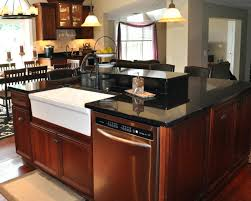 furniture style kitchen island kitchen island with dishwasher and sink best home design