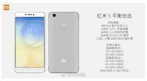 Price And Spec Confirmed For by Xiaomi Redmi Note 5 Specifications Price And Images Leaked