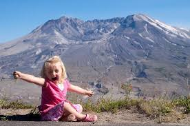what side does a st go on missing side of volcano picture of mountt st helens national
