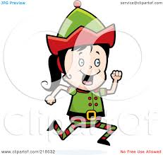 running elf clipart clipartxtras