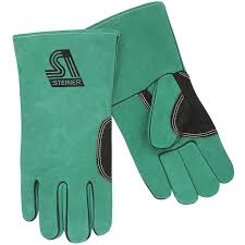 Split Cowhide Natural Thumb Premium Side Split Cowhide Stick Welding Gloves