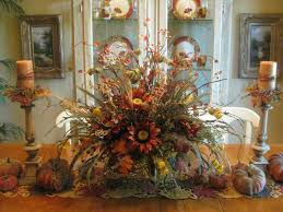 christmas dining room table centerpieces fall floral elegant