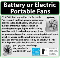 o2cool 10 inch battery or electric portable fan o2 cool 10 inch battery operated portable fan