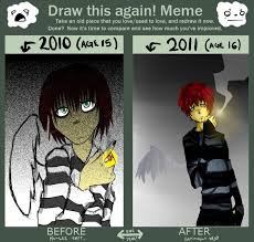 Draw It Again Meme - a year and a half draw it again meme by harisaysmeh on deviantart
