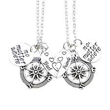 best friends necklace set images Udobuy2 pcs silver best friends no matter where jpg