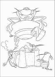 oggy cockroaches coloring pages