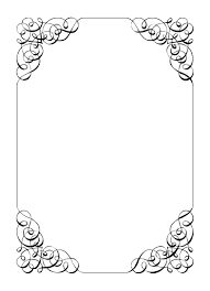 free printable border designs for paper black and white free