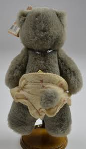 wooden faced teddy bears raikes applause nursery alison fully jointed gray wooden