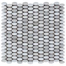 Home And Floor Decor Abalone Ellipse Ceramic Mosaic 12in X 12in 100243120 Floor