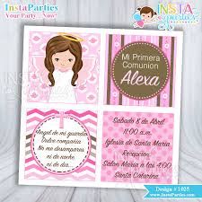 communion invitations for girl communion invitations girl invitation angel pink
