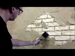 How To Paint A Faux Brick Wall - faux brick wall creative painting techniques youtube