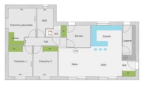 plan de maison en l avec 4 chambres plan maison en l avec 4 chambres