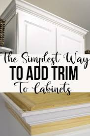 how to add crown moulding to cabinets the easiest way to install crown molding on cabinets