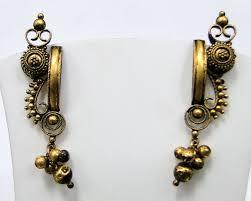gold earring studs designs vintage antique 22 k solid gold ear studs earrings classic design