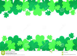 st patrick u0027s day shamrock border royalty free stock photos image