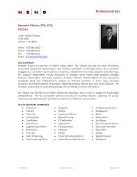 Bio Resume Sample Professional Bio Template Cyberuse