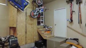 wasted spaces idea above basement stairs in garage youtube