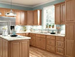 Wondrous Brown Wooden Kitchen Cabinetry by Kitchen Wall Color With Light Oak Cabinets Savae Org