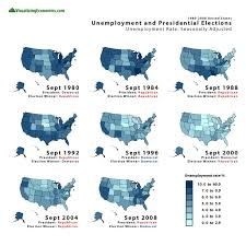1980 Presidential Election Map by Unemployment And Presidential Elections 1980 2008 U2014 Visualizing