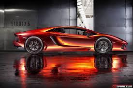 Lamborghini Aventador Orange - orange red chrome lamborghini aventador by print tech gtspirit