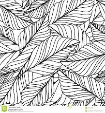 vector hand drawn doodle leaves seamless pattern abstract autumn