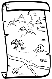 treasure map coloring pages getcoloringpages com