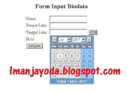 membuat form input menggunakan html cara membuat form input tanggal menggunakan html iman jayoda