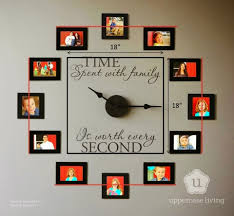 Coolest Clocks by Wonderful Diy Family Photo Wall Clock Photo Wall Clocks Photo