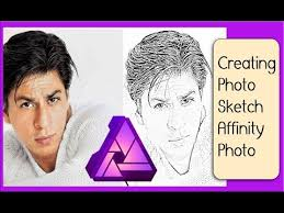 affinity photo converting photo into a pencil sketch youtube