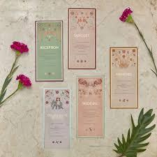 Invitation Cards Bangalore Multiple Insert Cards By Sketch Design Studio Bangalore Wedding