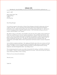 Sample Telecommunications Consultant Resume Telecom Manager Cover Letter
