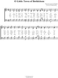 lewis h redner o town of bethlehem satb choir a cappella