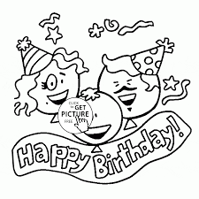 happy birthday family coloring page for kids holiday coloring